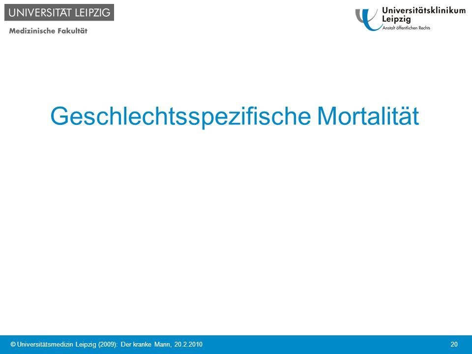 Geschlechtsspezifische Mortalität