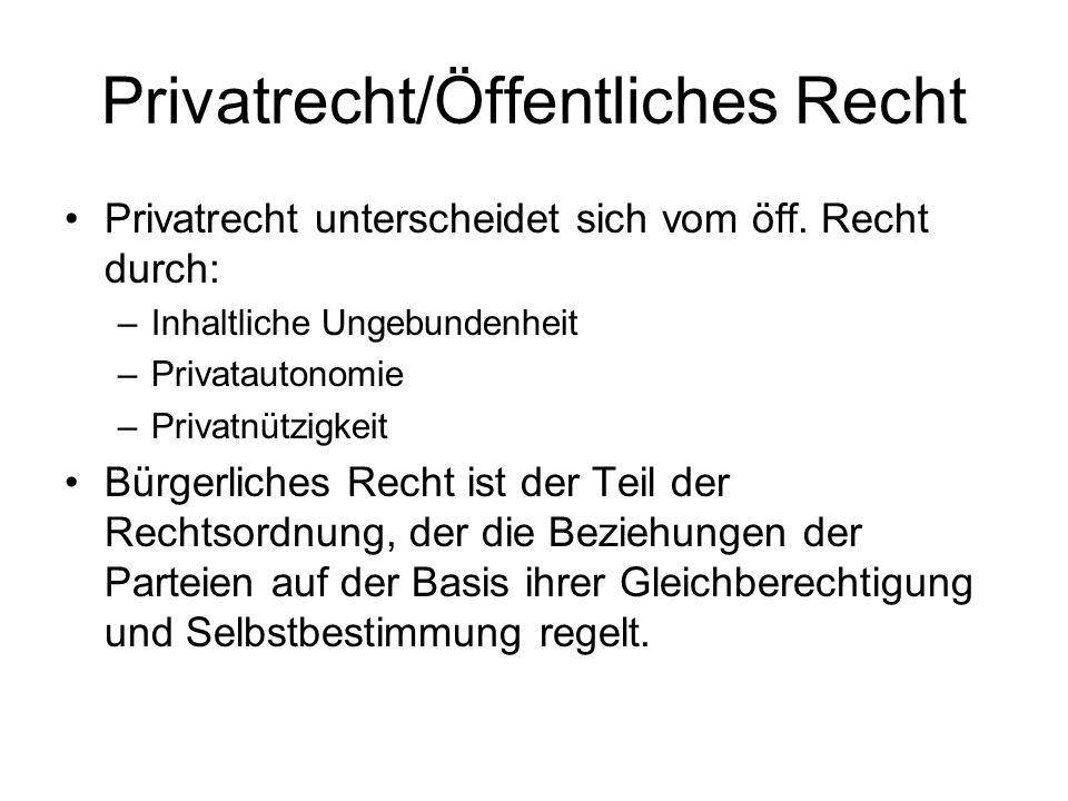 Privatrecht/Öffentliches Recht