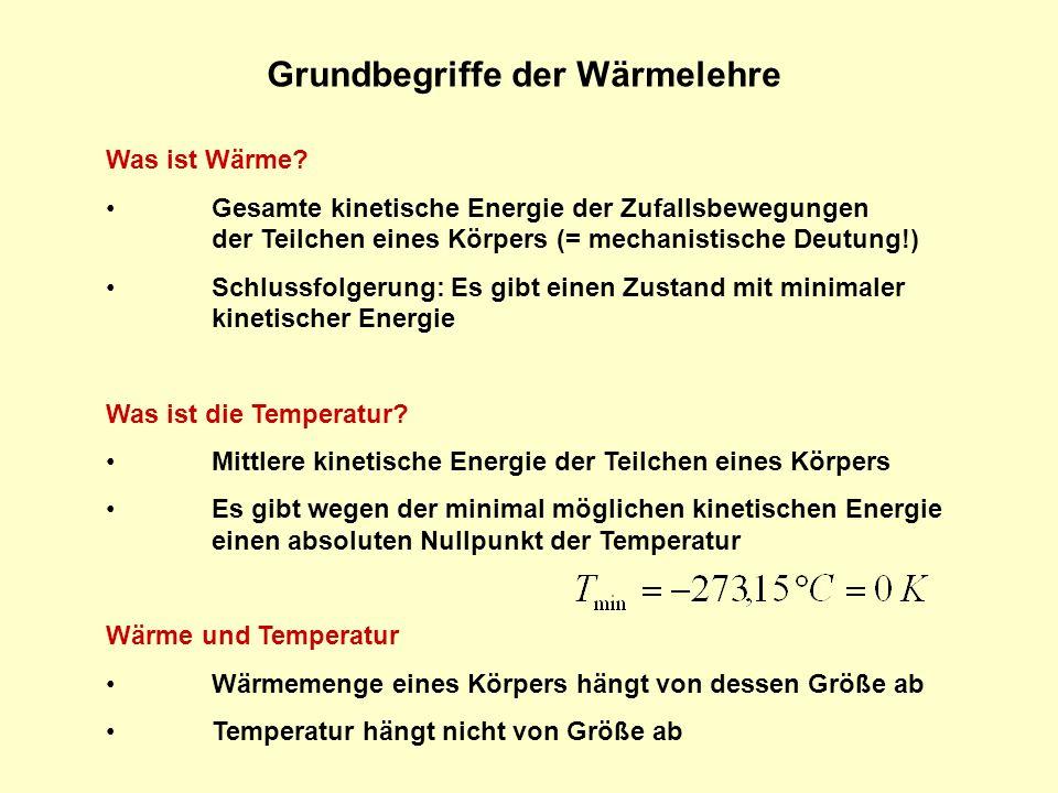 Grundbegriffe der Wärmelehre