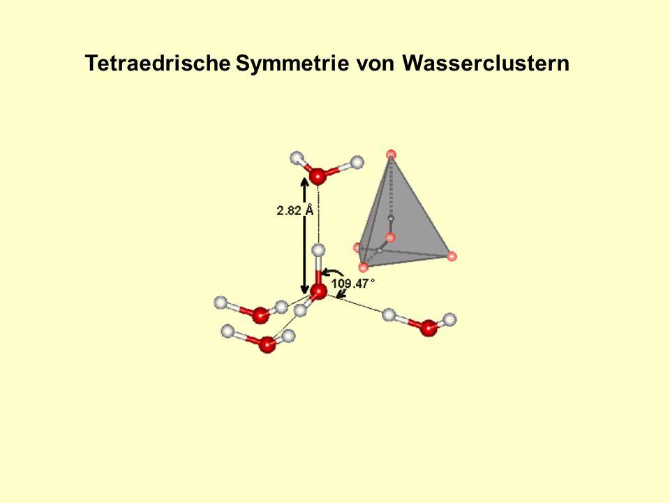 Tetraedrische Symmetrie von Wasserclustern
