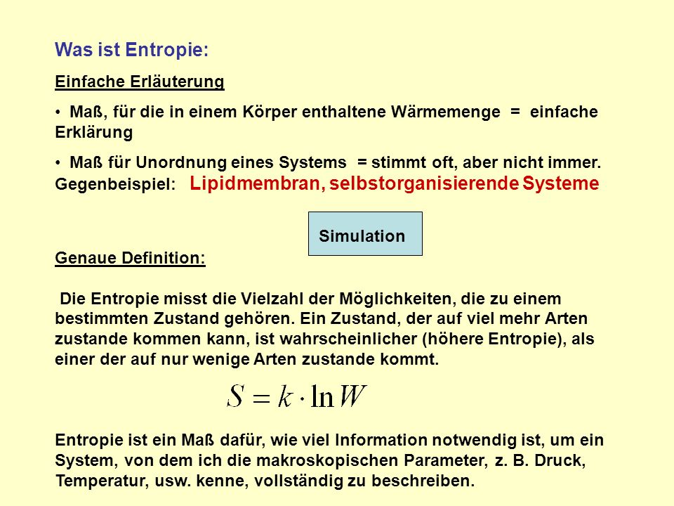 Was ist Entropie: Einfache Erläuterung