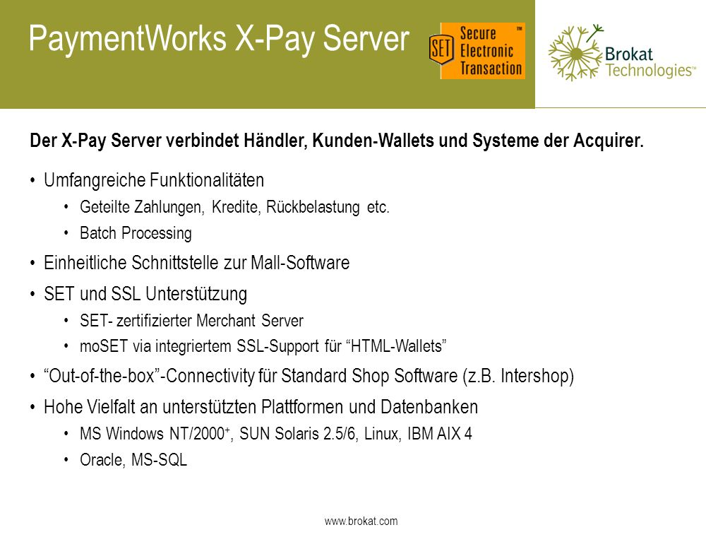 PaymentWorks X-Pay Server