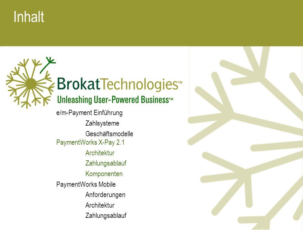 Inhalt e/m-Payment Einführung Zahlsysteme
