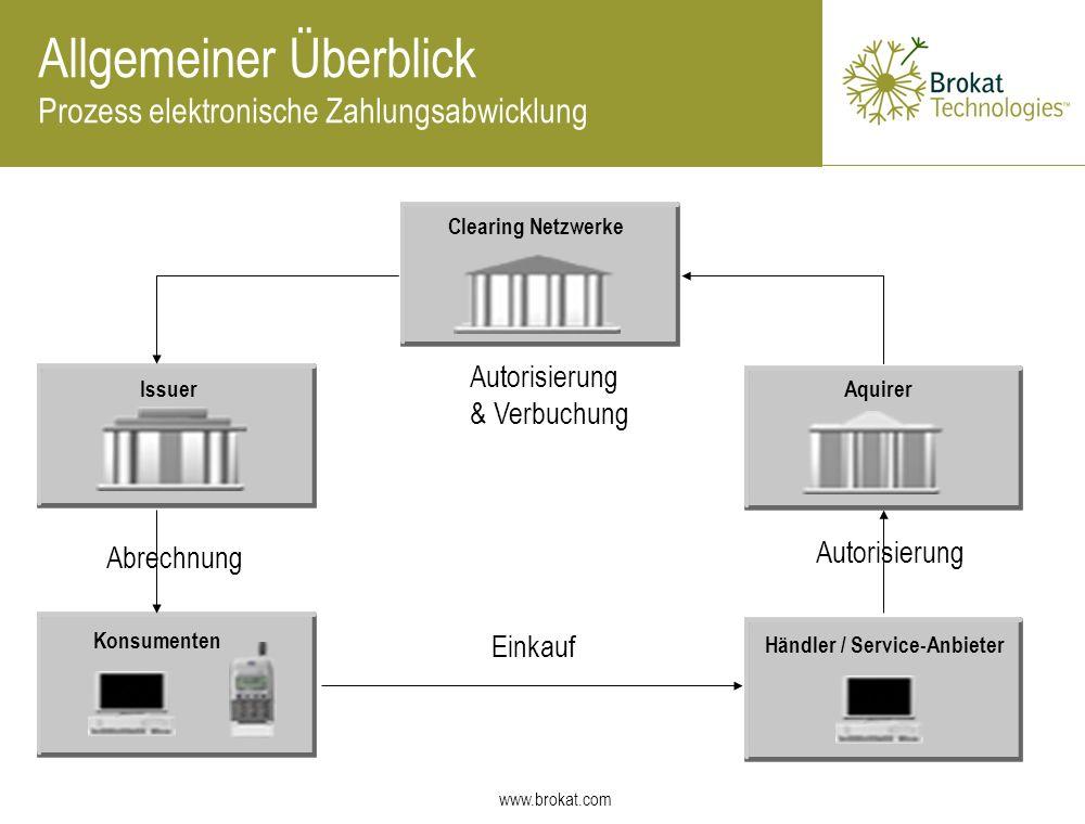 Allgemeiner Überblick Prozess elektronische Zahlungsabwicklung