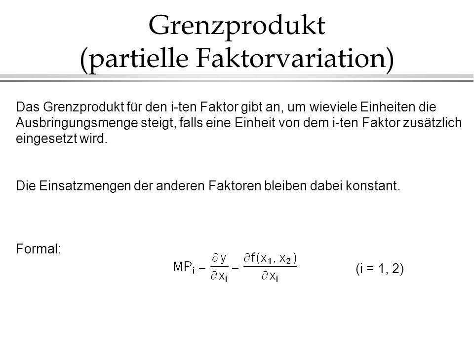 Grenzprodukt (partielle Faktorvariation)