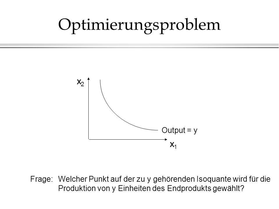 Optimierungsproblem x2 x1 Output = y