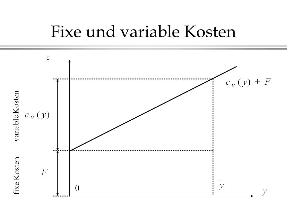 Fixe und variable Kosten
