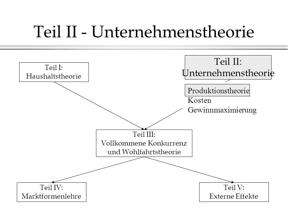 Teil II - Unternehmenstheorie