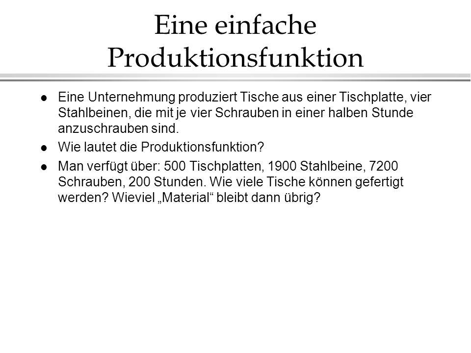 Eine einfache Produktionsfunktion