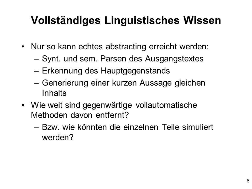 Vollständiges Linguistisches Wissen