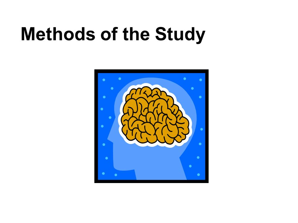 Methods of the Study