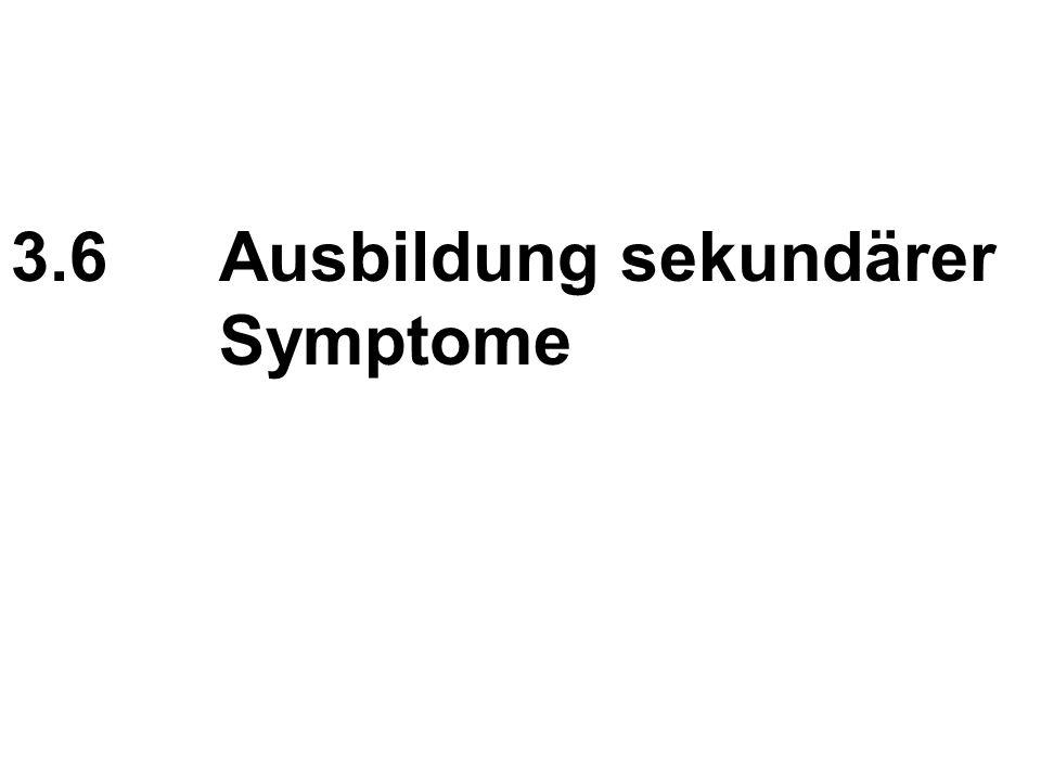 3.6 Ausbildung sekundärer Symptome