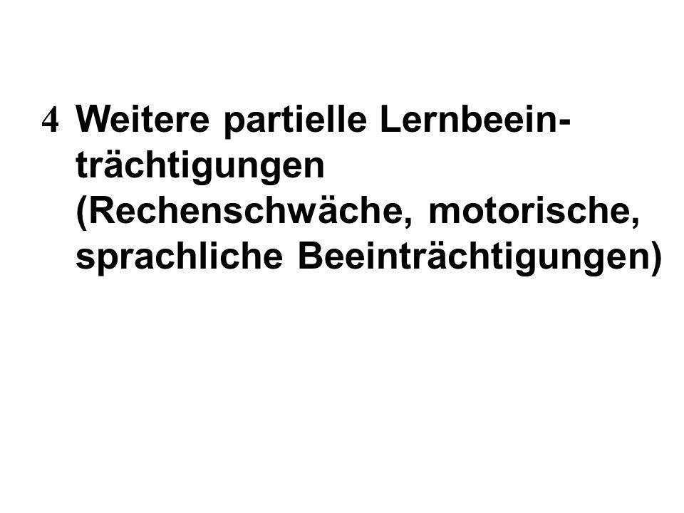 4. Weitere partielle Lernbeein-. trächtigungen