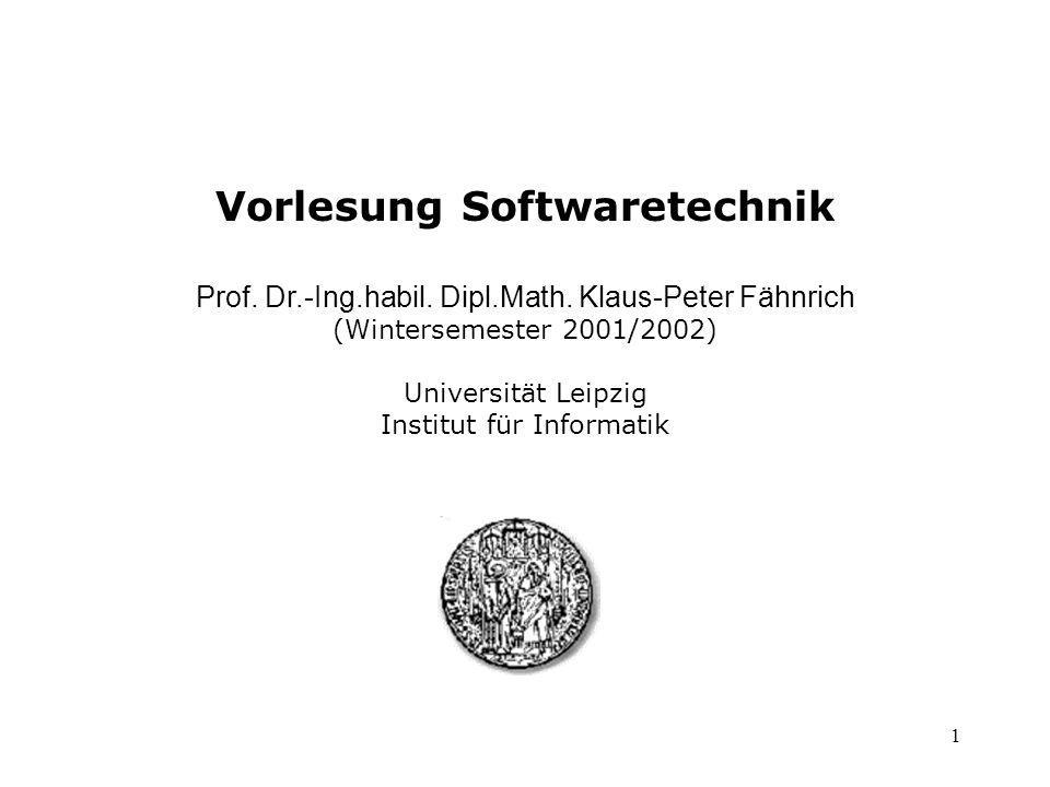 Vorlesung Softwaretechnik