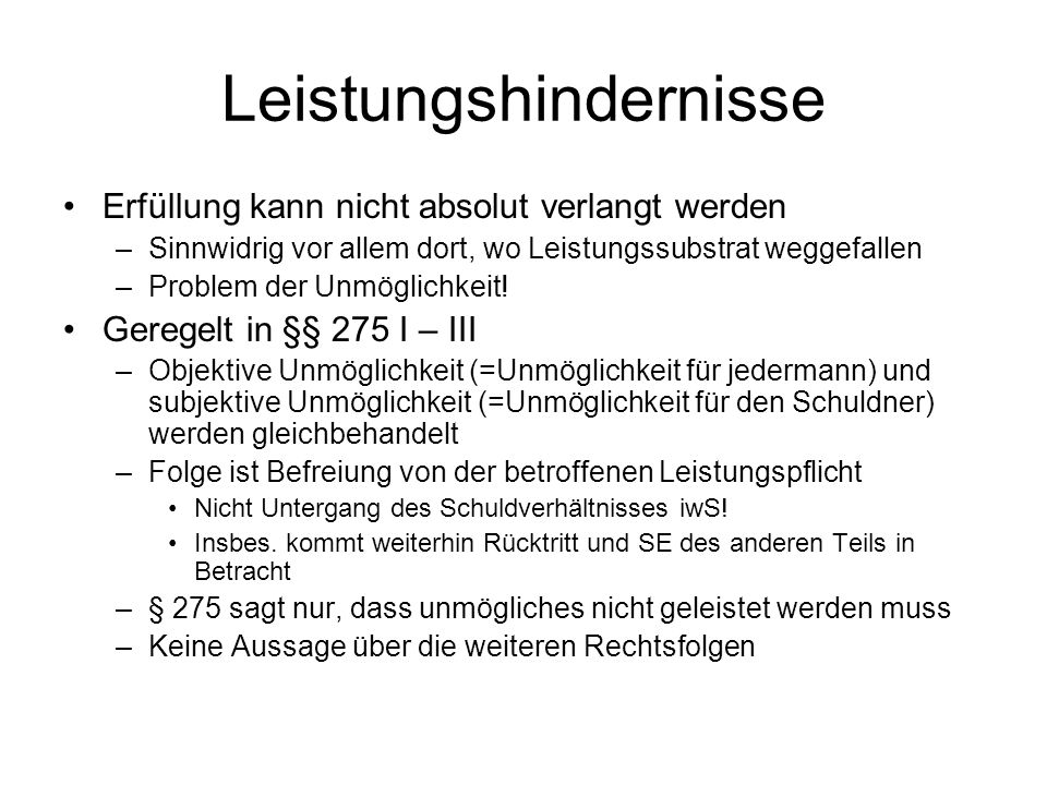 Leistungshindernisse