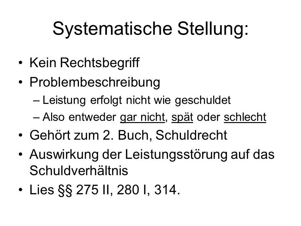 Systematische Stellung: