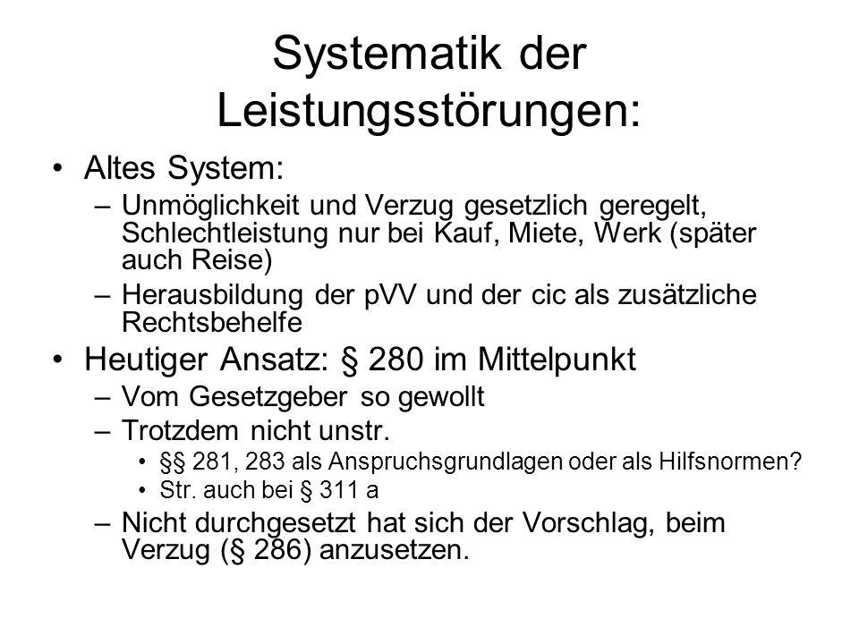 Systematik der Leistungsstörungen:
