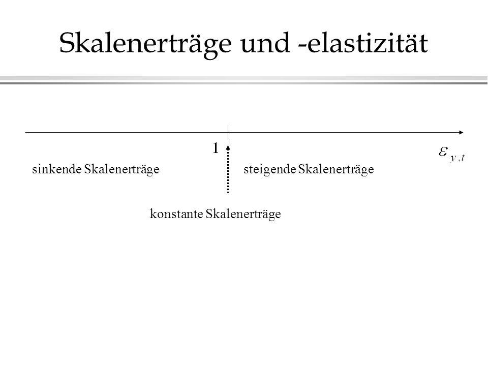 Skalenerträge und -elastizität