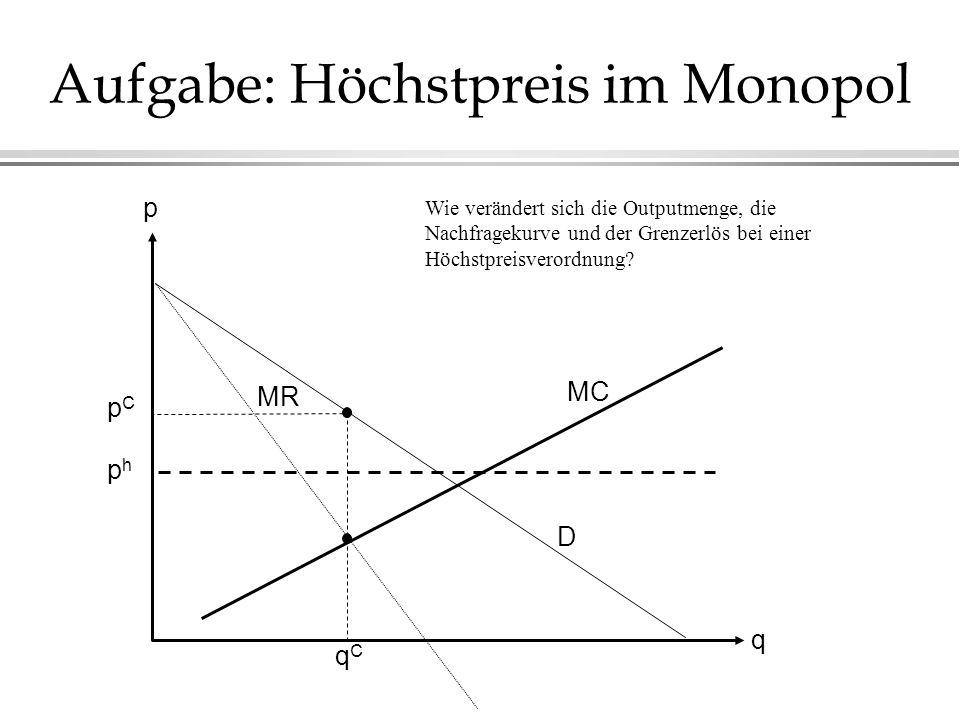 Aufgabe: Höchstpreis im Monopol