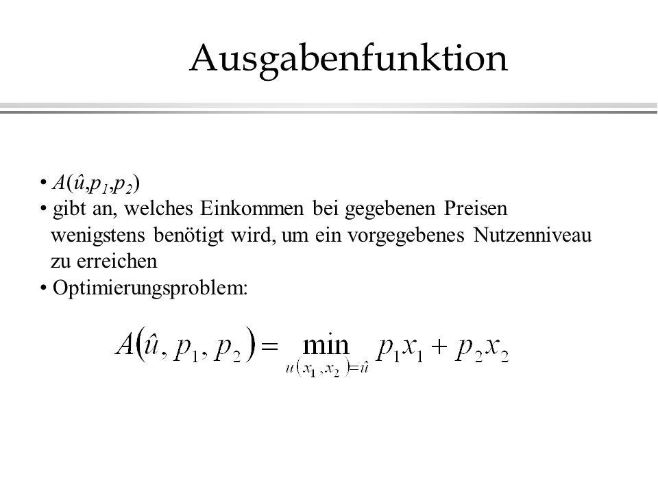 Ausgabenfunktion A(û,p1,p2)