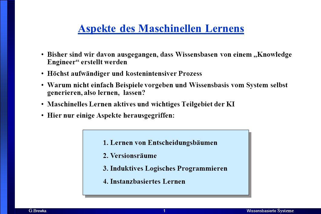 Aspekte des Maschinellen Lernens