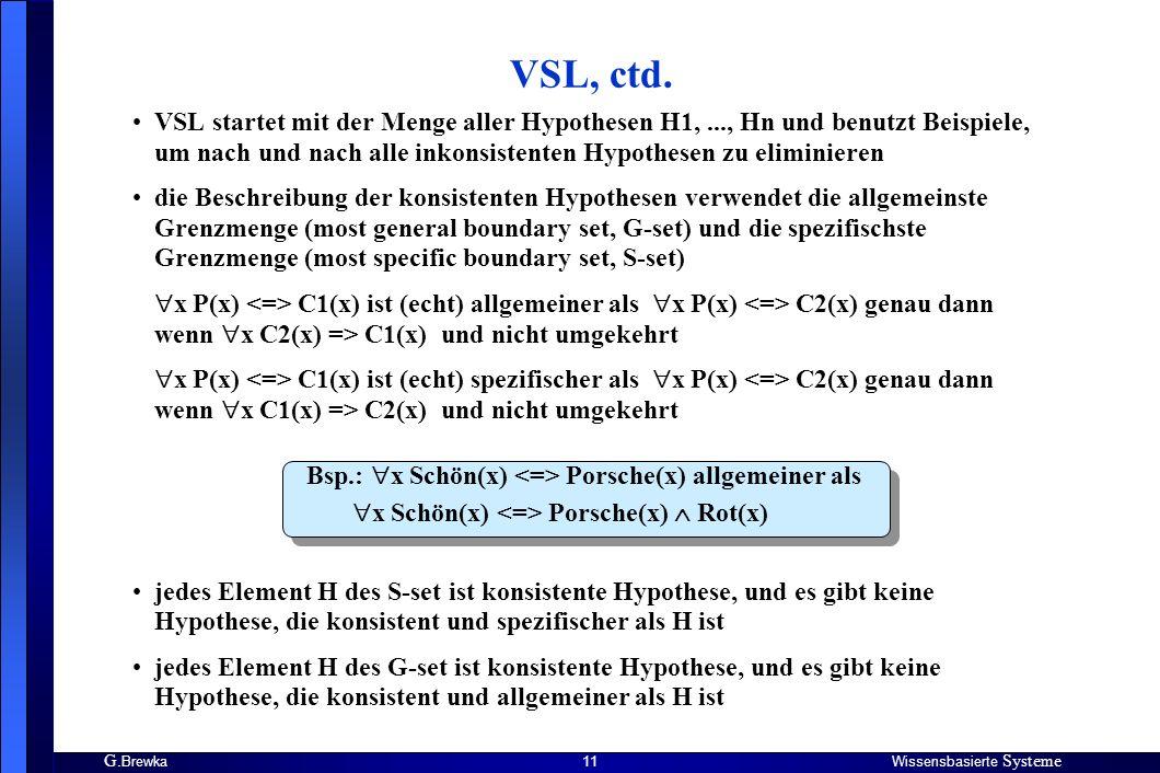VSL, ctd.