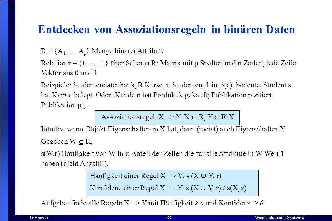 Entdecken von Assoziationsregeln in binären Daten