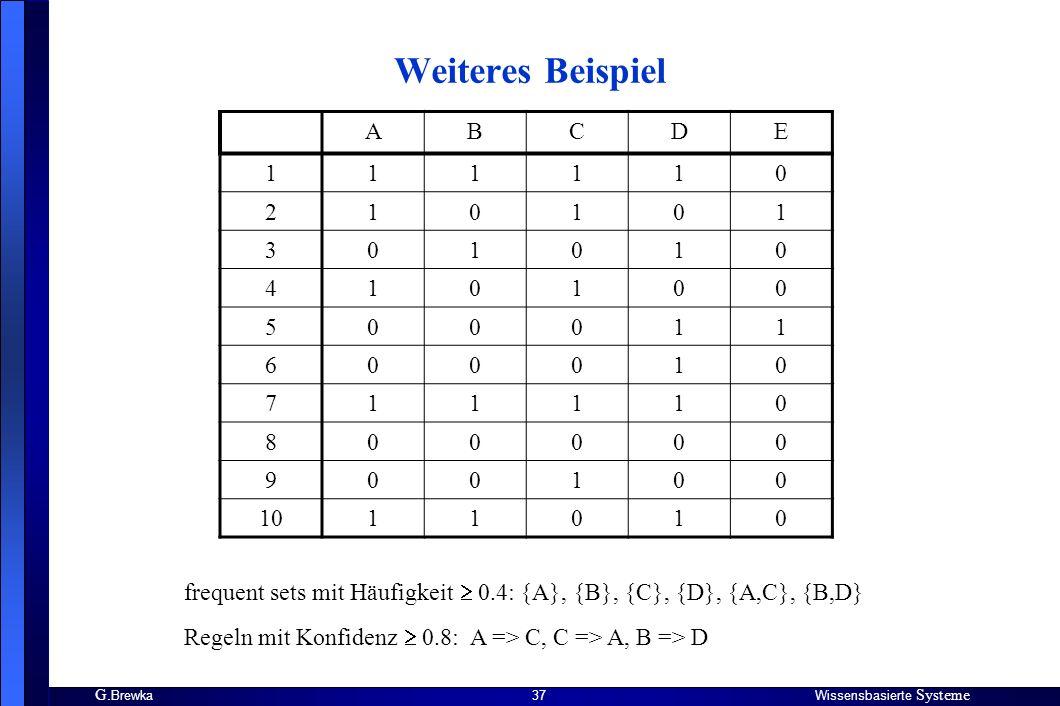 Weiteres Beispiel A B C D E 1 2 3 4 5 6 7 8 9 10