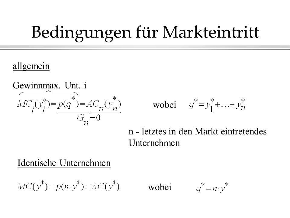 Bedingungen für Markteintritt