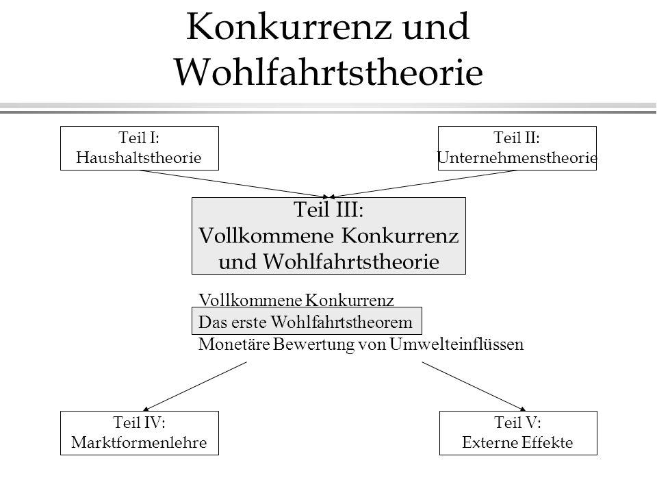Teil III - Vollkommene Konkurrenz und Wohlfahrtstheorie