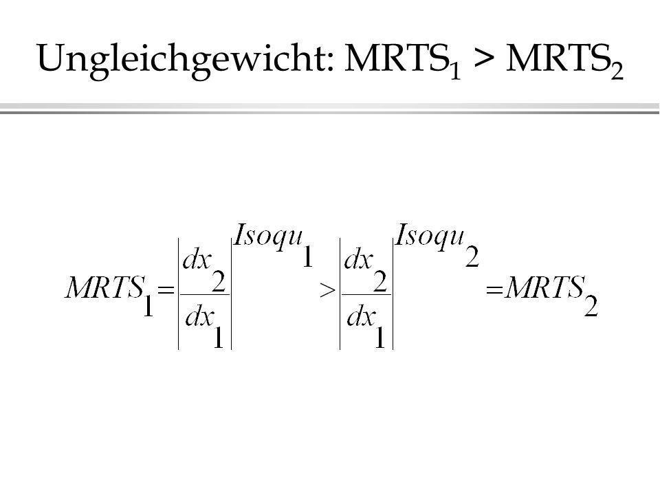 Ungleichgewicht: MRTS1 > MRTS2