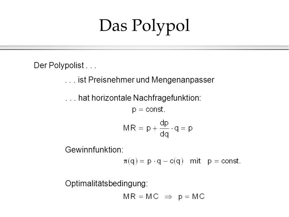 Das Polypol Der Polypolist . . .