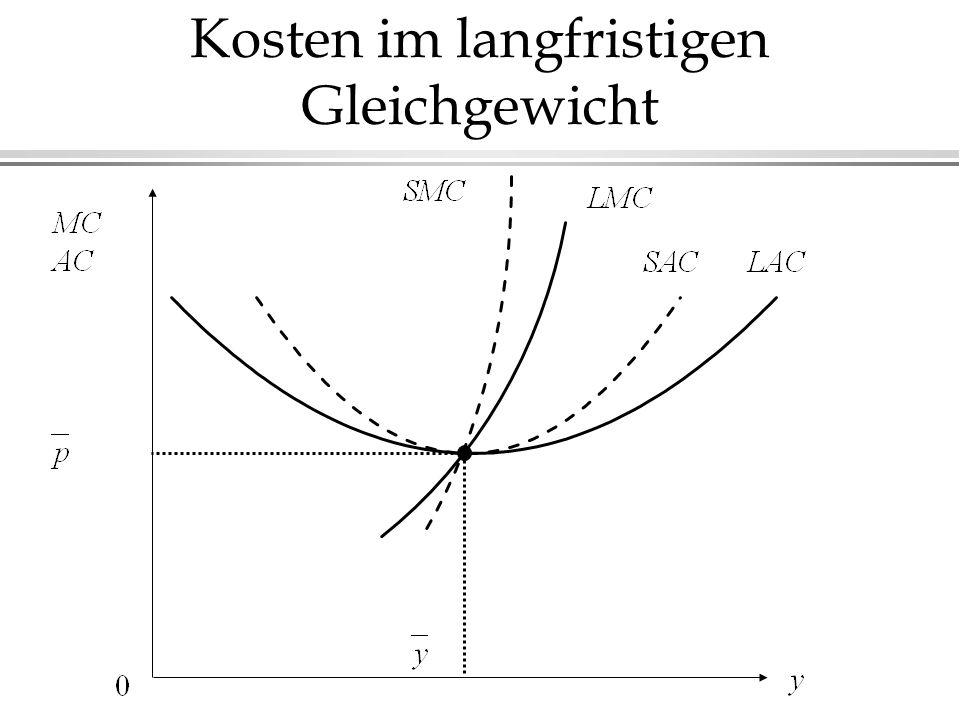 Kosten im langfristigen Gleichgewicht