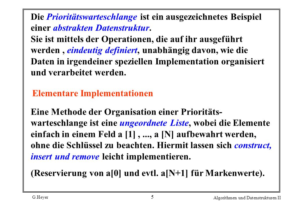 Elementare Implementationen