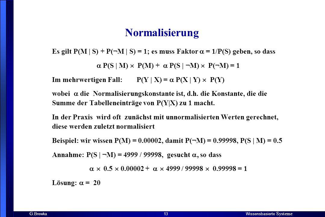  P(S | M)  P(M) +  P(S | ¬M)  P(¬M) = 1