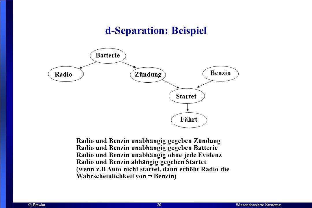 d-Separation: Beispiel