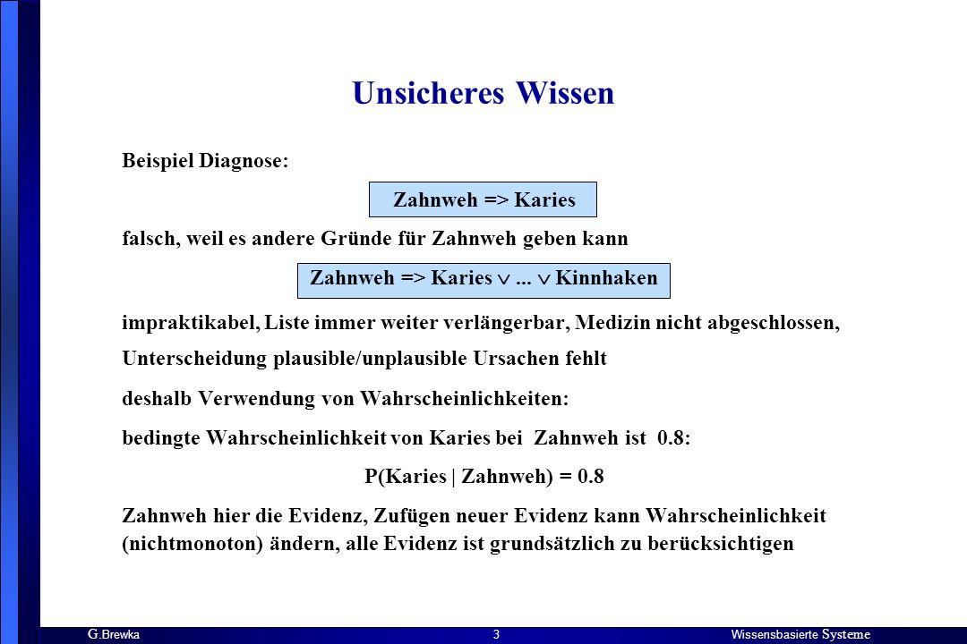 Zahnweh => Karies  ...  Kinnhaken