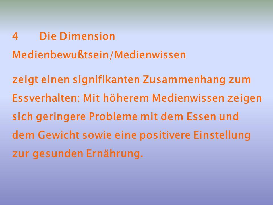 4 Die Dimension Medienbewußtsein/Medienwissen