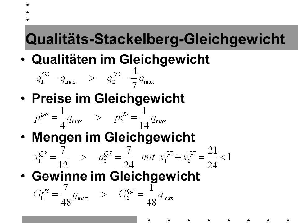 Qualitäts-Stackelberg-Gleichgewicht