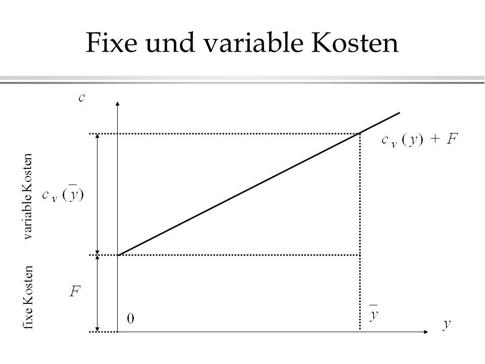Fixe und variable Kosten