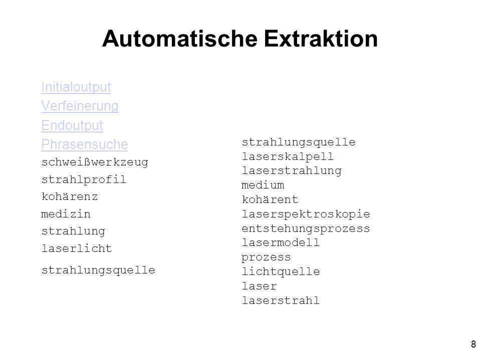 Automatische Extraktion