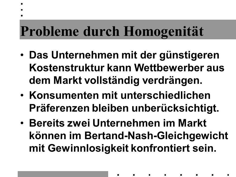 Probleme durch Homogenität