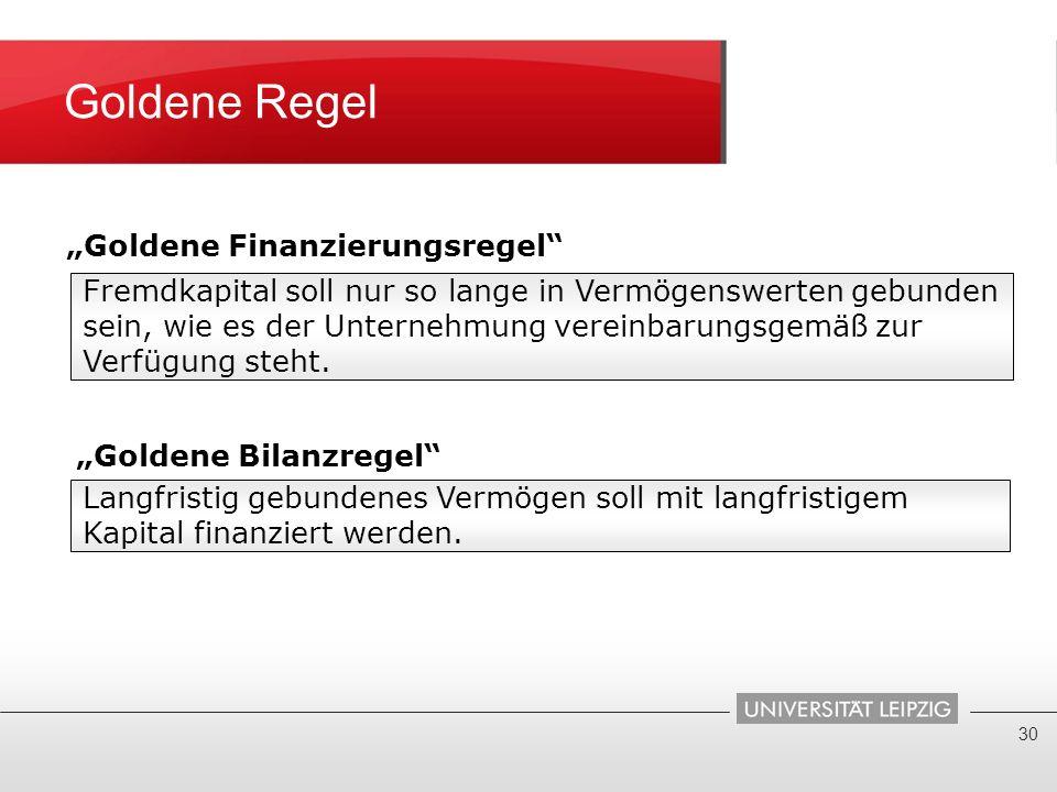 """""""Goldene Finanzierungsregel"""