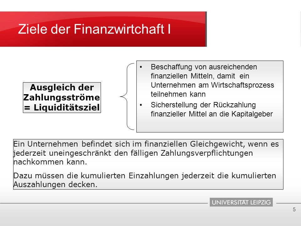 Ziele der Finanzwirtchaft I