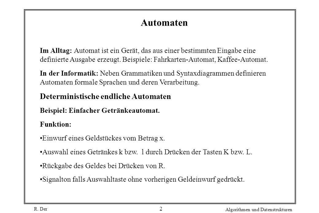 Automaten Deterministische endliche Automaten