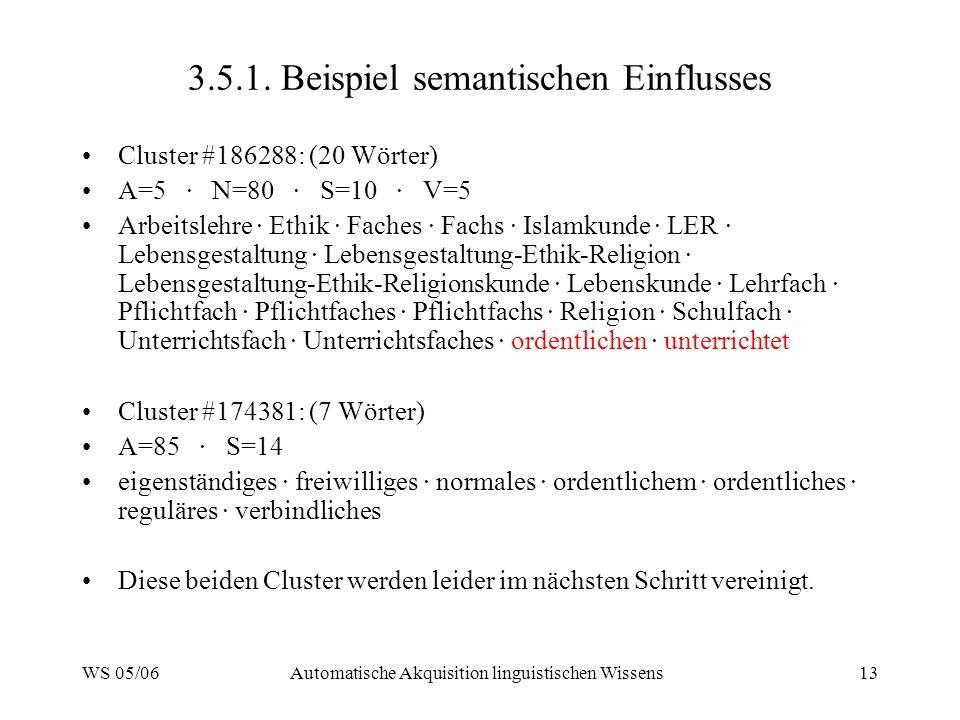 3.5.1. Beispiel semantischen Einflusses