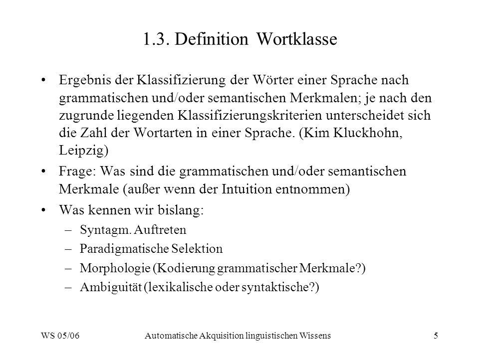 1.3. Definition Wortklasse