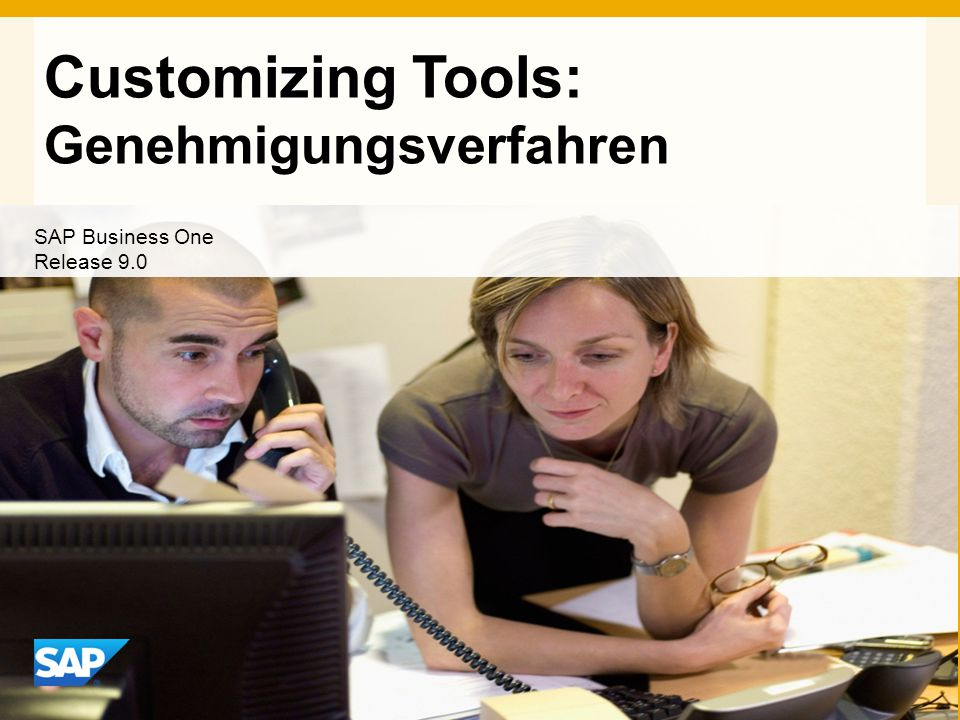 Customizing Tools: Genehmigungsverfahren