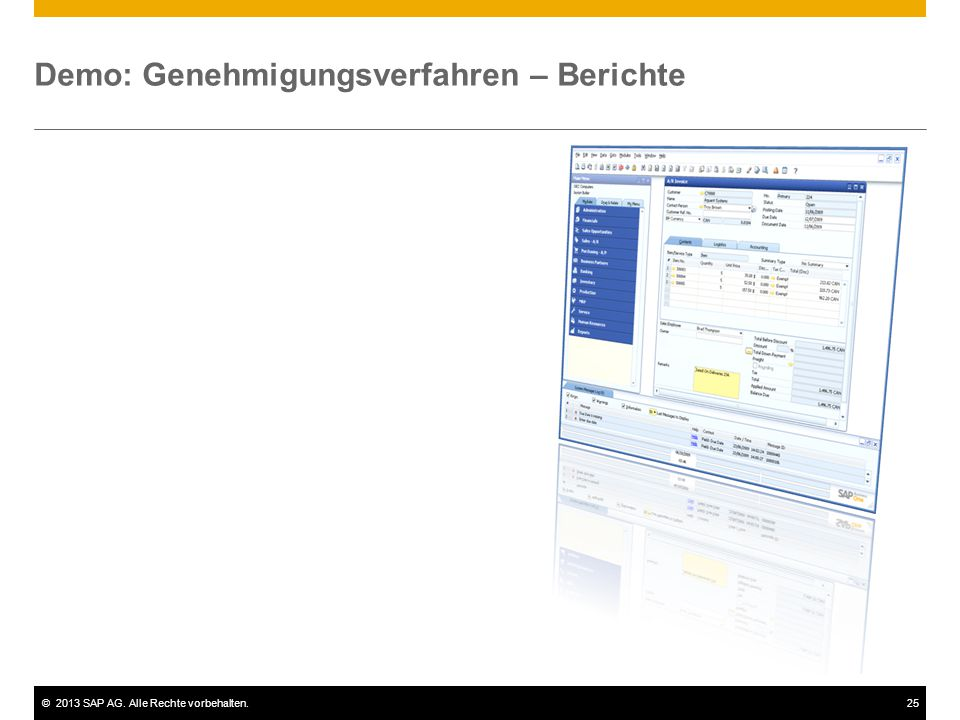 Demo: Genehmigungsverfahren – Berichte