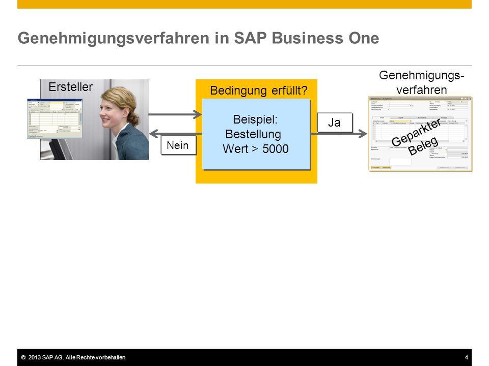 Genehmigungsverfahren in SAP Business One